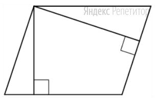 Стороны параллелограмма равны 12 и 24. Высота, опущенная на меньшую сторону, равна 18.