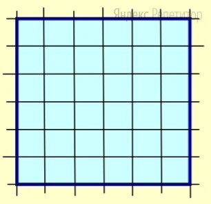 Отметьте все узлы на клетчатой бумаге, расстояния от которых до всех вершин показанного на рисунке квадрата не превышает его стороны. Сколько всего таких узлов?
