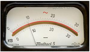 Чему равны показания миллиамперметра, приведённого на рисунке, если погрешность прибора равна половине цены деления?