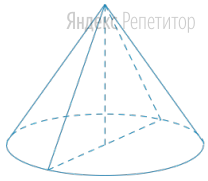 Найдите площадь осевого сечения конуса (в см...), если образующая конуса равна ... см, а диаметр основания равен ... см.