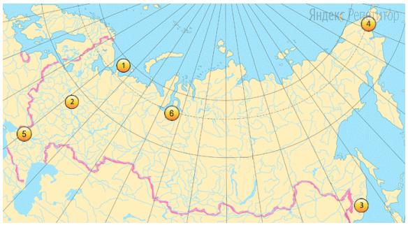 Какие три из выделенных на карте России территорий имеют наибольшую плотность населения?