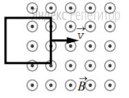 В некоторой области пространства создано однородное магнитное поле (см. рисунок).