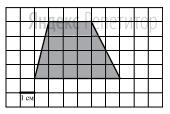 Найдите площадь четырехугольника, изображенного на клетчатой бумаге с размером клетки ... см ... см (см. рисунок).