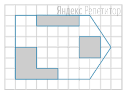 План склада разбит на клетки. Каждая клетка обозначает квадрат ... м ... м. Закрашенная часть показывает занятую товаром площадь.