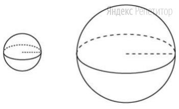 Дано два шара. Радиус первого шара в 50 раз больше радиуса второго.