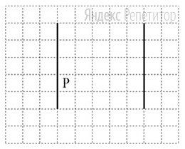 На рисунке указан один из возможных способов расположения стен и Робота (Робот обозначен буквой «...»).
