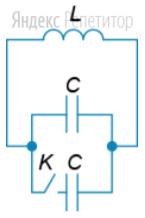 В идеальном колебательном контуре происходят гармоничные колебания, при этом ключ ... разомкнут.