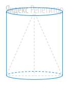 Конус с образующей равной ... вписан в цилиндр с диаметром основания равным ...