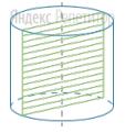 Осевым сечением цилиндра является квадрат.