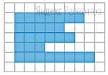 План местности разбит на клетки. Каждая клетка обозначает квадрат ... м ... м.