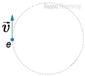 Электрон движется в однородном магнитном поле по траектории, показанной на рисунке.