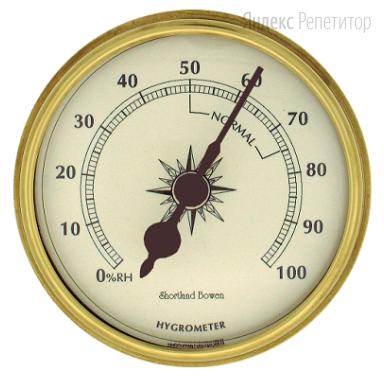 На фотографии представлены результаты измерения влажности воздуха гигрометром. Абсолютная погрешность прибора равна его цене деления.
