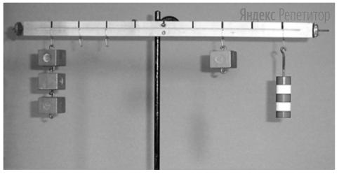 Определите массу одного призматического грузика, если общая масса полосатого цилиндрического грузика равна ... г.