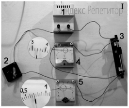 Определите (в вольтах) ЭДС источника тока.