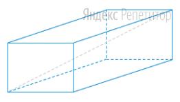 Рёбра прямоугольного параллелепипеда равны ... ... и ...