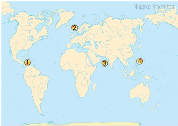 Установите соответствие между морем (обозначено буквами) и его расположением на карте (обозначено цифрами).