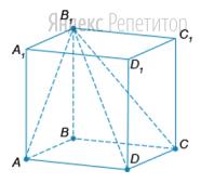 Найдите объём пирамиды ... если площадь грани куба ... равна ...