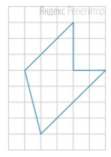 На клетчатой бумаге с размером клетки ... см... см изображён многоугольник.