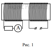 На железный сердечник надеты две катушки, как показано на рисунке.