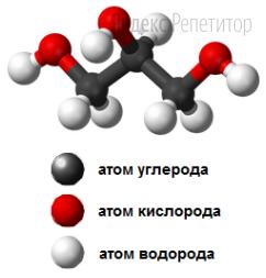 Укажите правильные утверждения относительно вещества, модель молекулы которого изображена на рисунке.