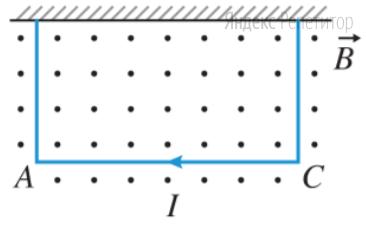 На двух тонких нитях подвешен горизонтально в магнитном поле проводник длиной ... м и весом ... Н.