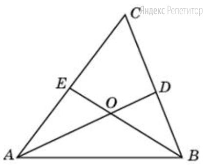 В треугольнике ... угол ... равен 58°, ... и ...  — биссектрисы, пересекающиеся в точке ...