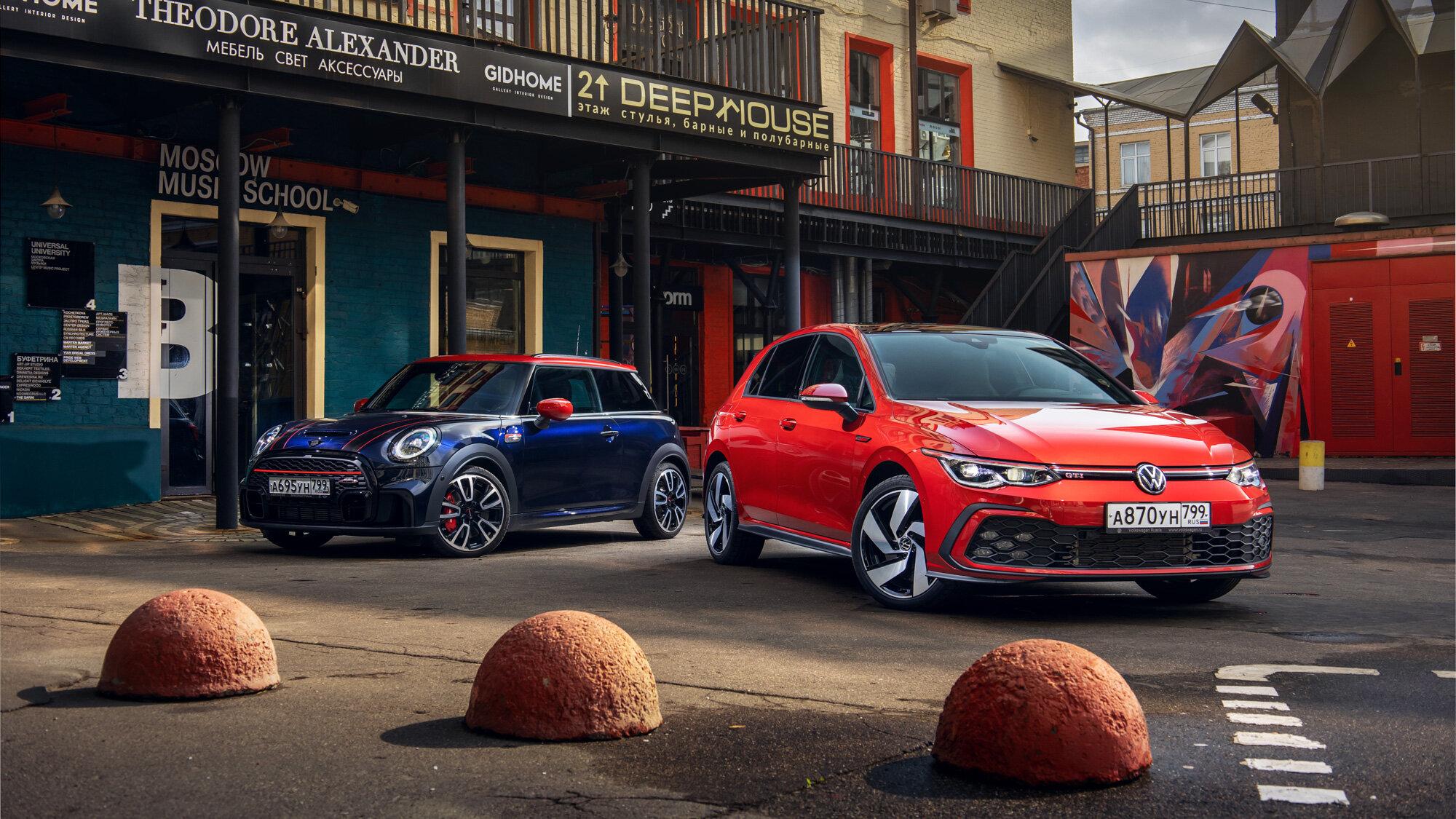 Инструмент или игрушка?  Новый Volkswagen Golf GTI противMini JCW: сравнительный тест