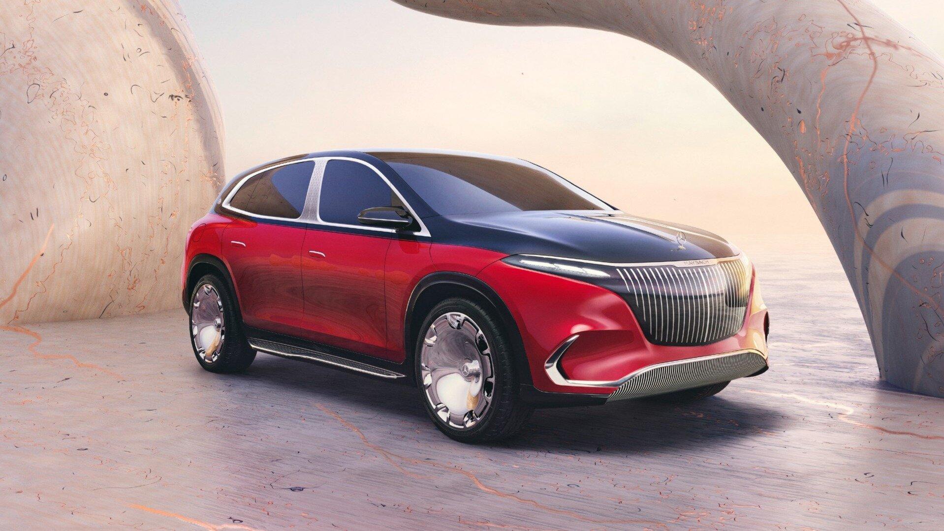 Новая платформа и розовое золото: представлен электрокроссовер Mercedes-Maybach