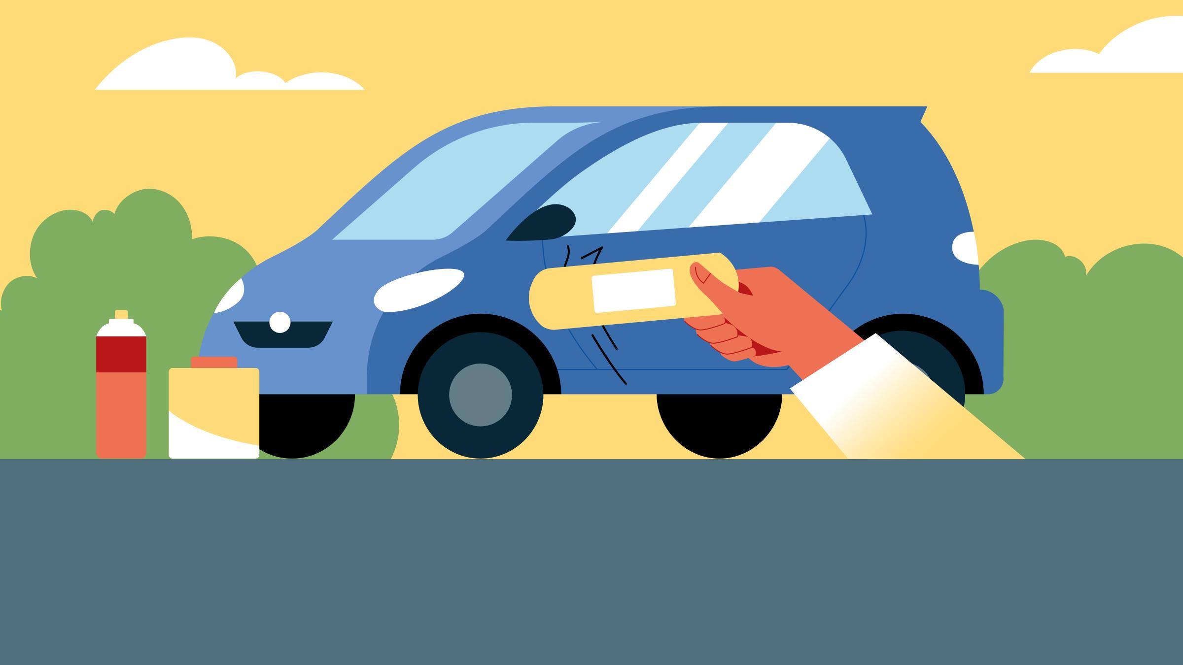 Как убрать царапины и сколы скузова автомобиля