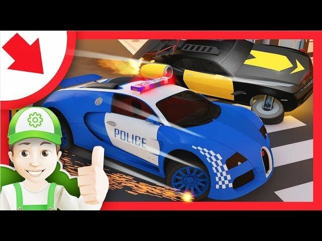 Dessin Anime Police Voiture Petite Voiture De Police En Francais