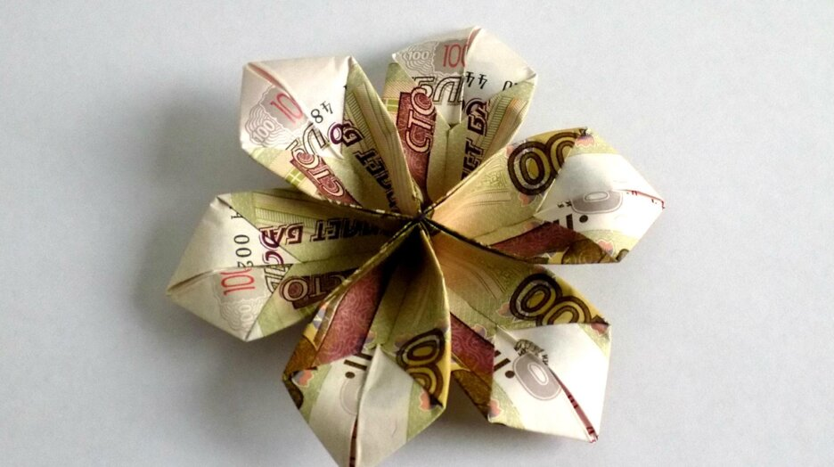 Оригами из денег схемы 🥝 поделки из купюр своими руками | 524x936
