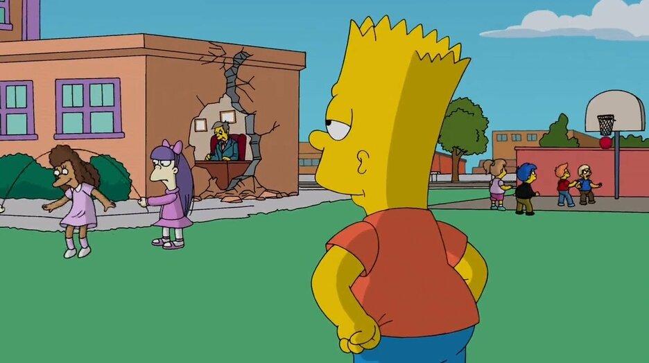 Барт симпсон в школе картинки