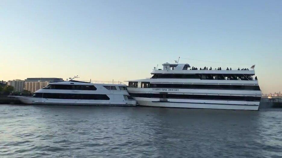 Что-то пошло не так во время парковки крупной яхты. Видео прикол