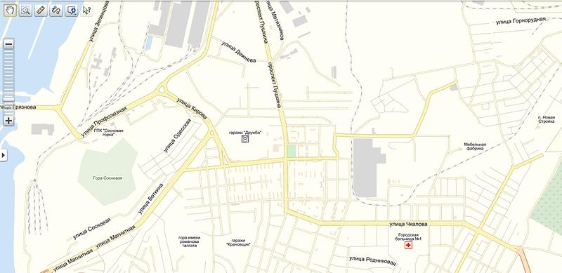 Карта г Пицунда с улицами и номерами домов