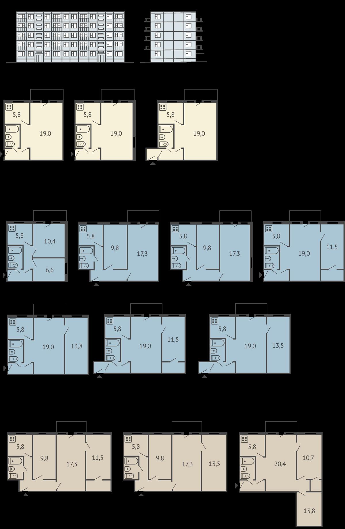серия дома 1-464