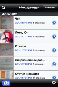 List of files