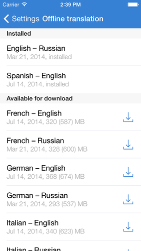 Yandex — Company blog — Yandex's Translation App for iPhone
