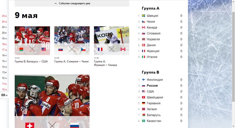 Чемпионат мира по хоккею на Яндексе