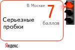 Пробки в Москве на Яндекс.Картах