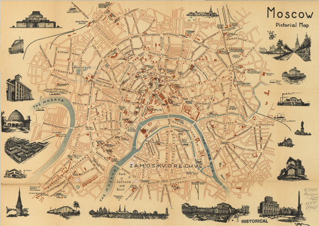 Карта Москвы 1935 года