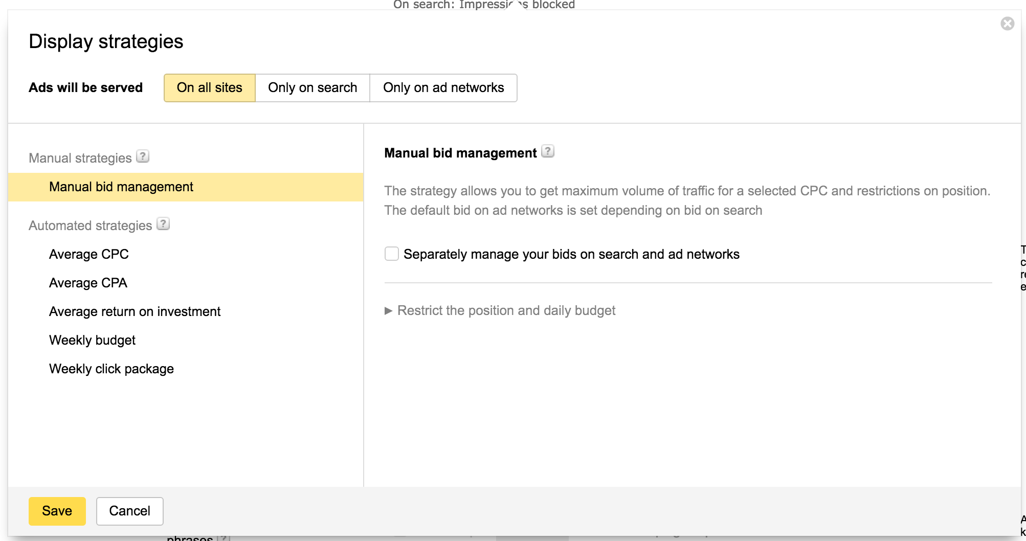 Yandex settings: mail, Yandex.Direct, search