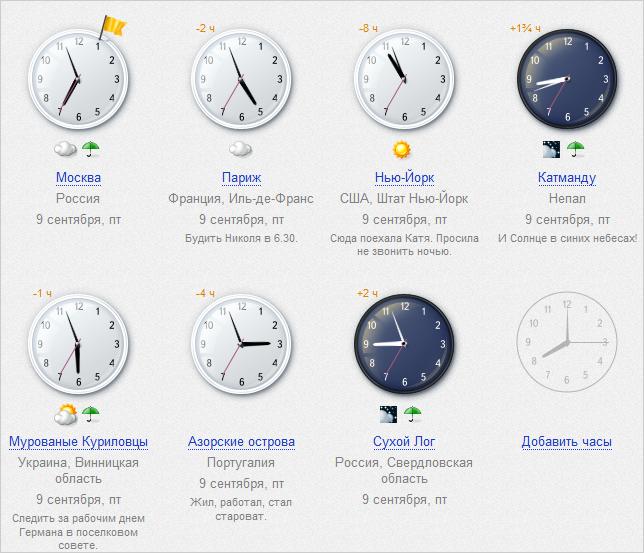 Картинка с московским временем и датой