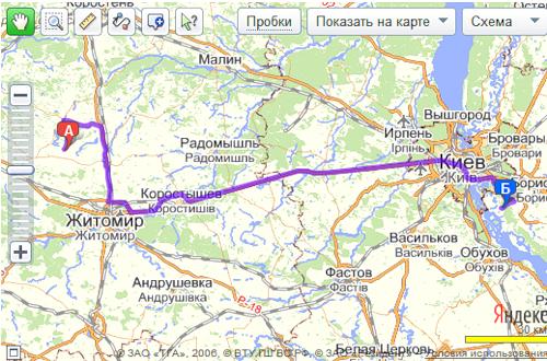 Карты и пробки QIP ru
