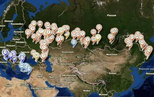 Карта спутниковых снимков релиза 12.07.2011