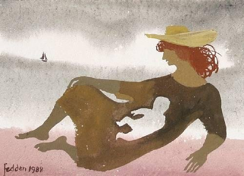 Mary Fedden  On the Shore 1988