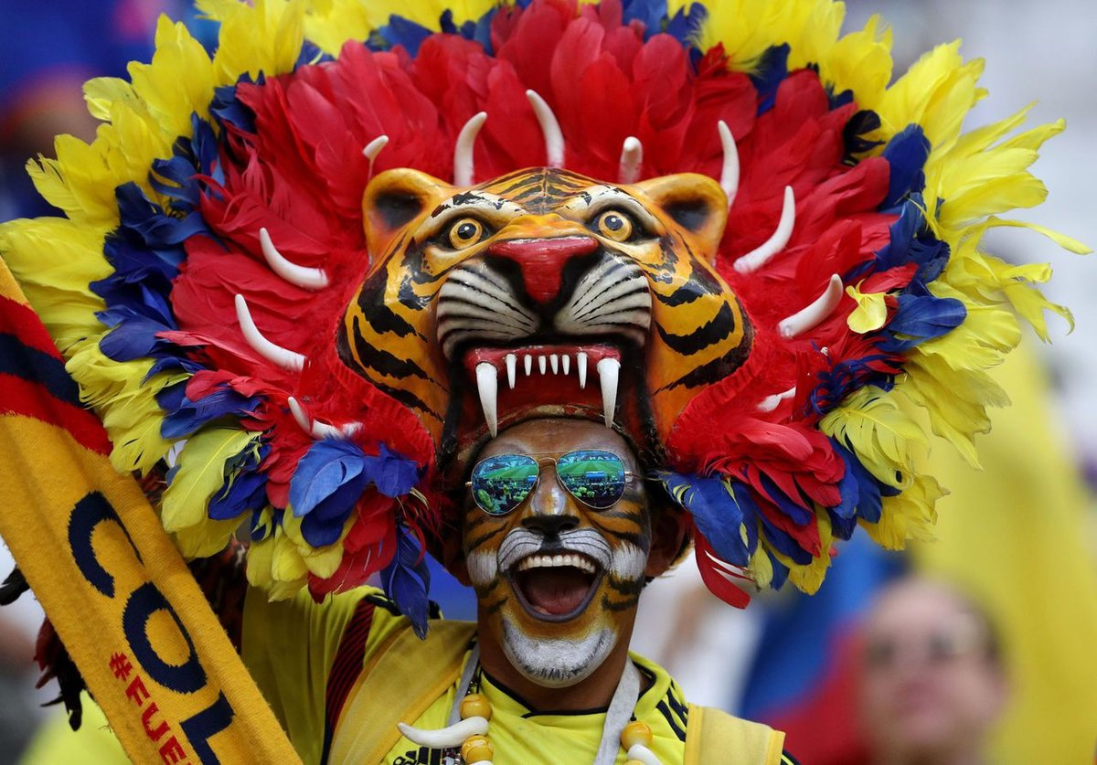 Patrick Smith - FIFA/FIFA via Getty Images DRESSED UP FOR COLOMBIA