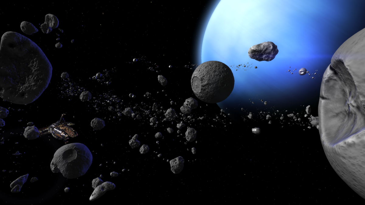 the asteroids in space - HD 1920×1080