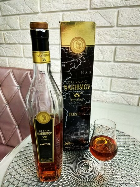 Cognac Nakhimov Prestige 10 Years Old (Коньяк Нахимов Престиж 10 лет)