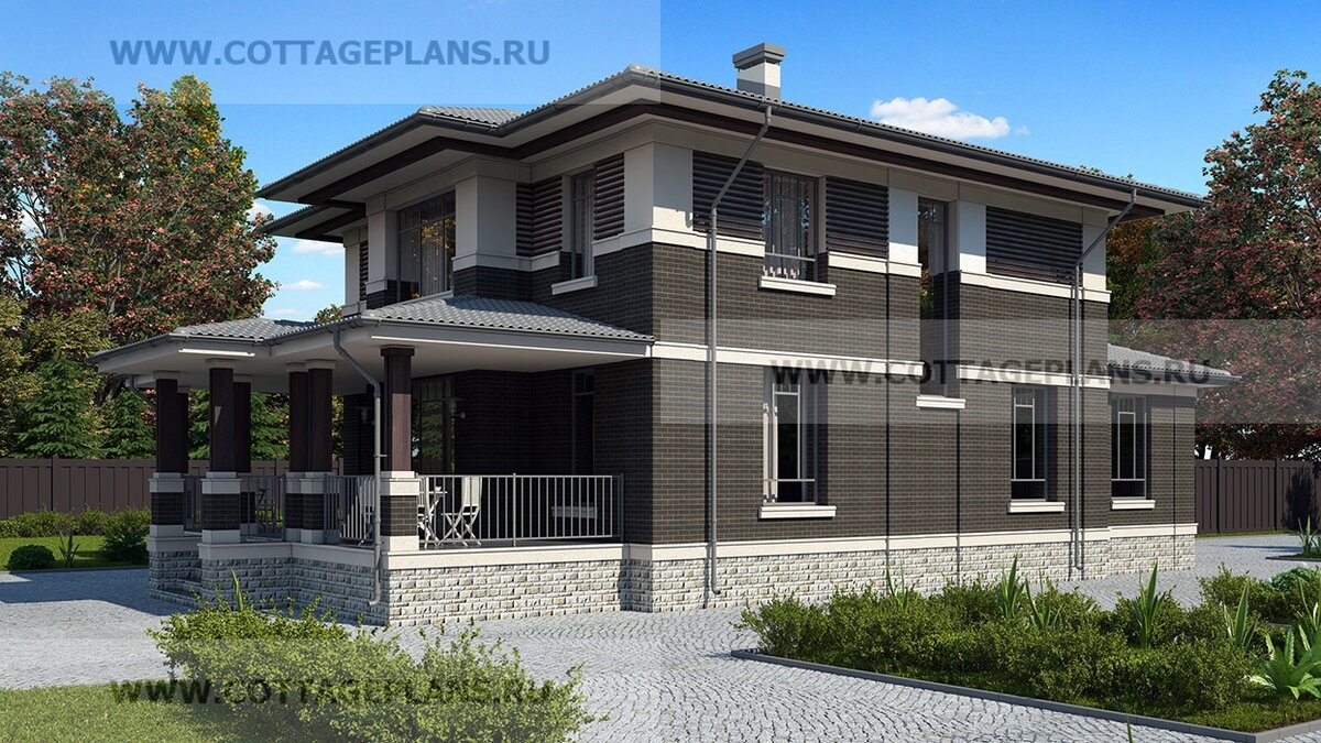Фасады дома. Источник фото: https://www.cottageplans.ru