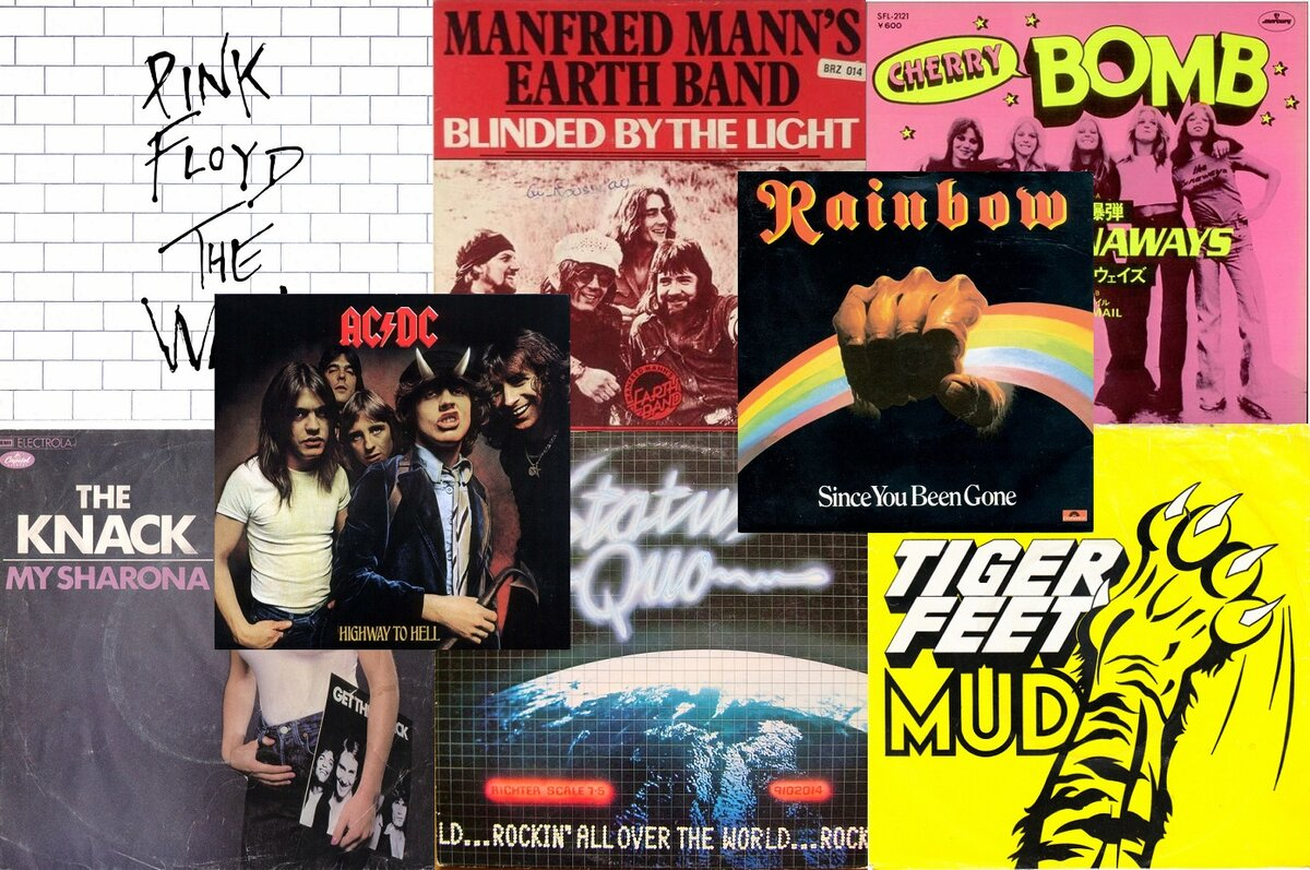 Pink Floyd, Manfred Mann's Earth Band, The Runaways, The Knack, Status Quo, Mud, AC/DC, Rainbow